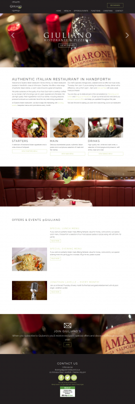 Giuliano Italian Restaurant I Handforth I Cheshire