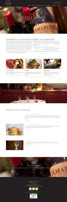 Giuliano Italian Restaurant I Handforth I Cheshire