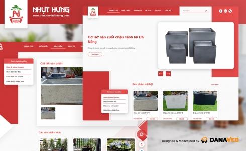 DanaWeb thiết kế website bán hàng Chậu cảnh Đà Nẵng