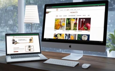 DANAWEB thiết kế website kinh doanh cà phê cho VIS COFFEE