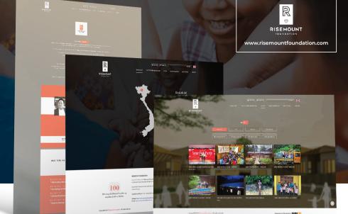 DanaWeb thiết kế website Quỹ từ thiện Risemount