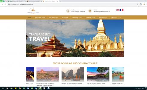 DanaWeb thiết kế website du lịch cho Công ty TRANSPACIFIC TRAVEL