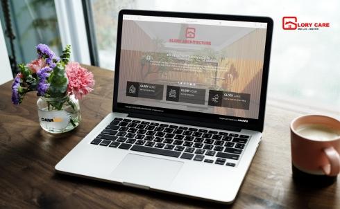 Danaweb thiết kế website cho Công ty Thiết kế - Xây dựng - Nội thất GLORY
