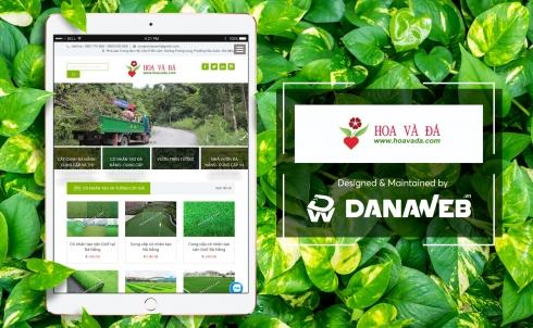 DanaWeb thiết kế website cây cảnh Hoa và Đá