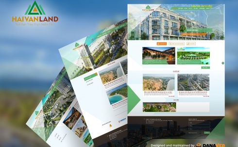 DANAWEB thiết kế và bàn giao webiste cho Công ty Cổ phần Địa Ốc Hải Vân - HẢI VÂN LAND