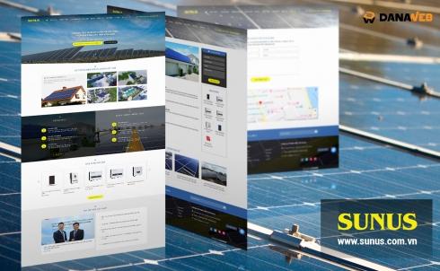 DanaWeb thiết kế website cho Công ty Điện Mặt Trời Sunus