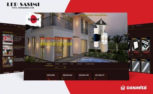 DanaWeb thiết kế website cho Công ty Đèn Ledsasimi Việt Nam