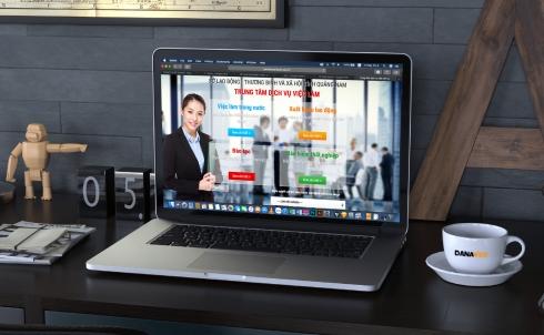 Danaweb thiết kế website việc làm cho Trung tâm Dịch vụ việc làm Quảng Nam.