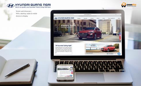 Công ty DanaWeb bàn giao website cho HyunDai Quảng Ngãi