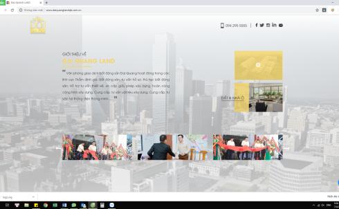 DanaWeb thiết kế website Bất Động Sản Đại Quang Land
