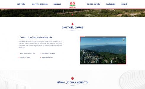 DanaWeb thiết kế website Công ty Xây Lắp Sông Tiên