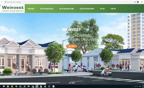 DanaWeb thiết kế website Công ty WeInVest