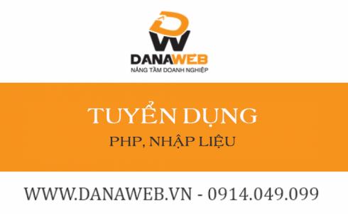 Thông tin tuyển dụng tháng 04: Lập trình PHP, Nhập liệu Website.