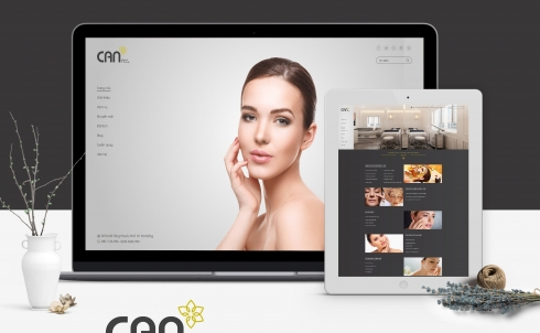 DanaWeb thiết kế website Spa CAN Health and Beauty