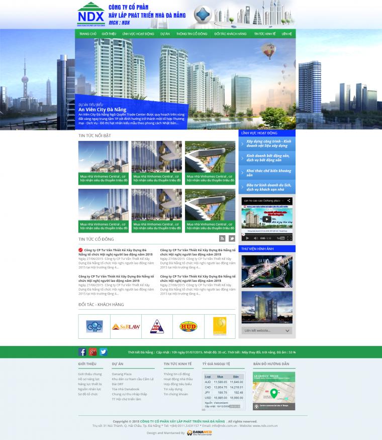 Cty Cp xây lắp phát triển nhà Đà Nẵng